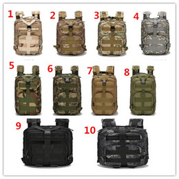 Wholesale Waterproof Backpack Camouflage - Outdoor Backpack Outdoor Sports Backpack Military Enthusiasts Tactical Package 30 L Oxford Waterproof Camouflage Bags Wholesale
