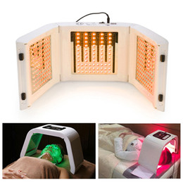Wholesale pdt light treatment - TM-LM004 4 LED Light Facial Mask PDT photon THERAPY photodynamic For body Skin Beauty Face Skin Rejuvenation Acne treat salon machine