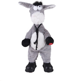 Wholesale Dancing Plush - 20161116 Plush electric head shaking toy, crazy animal shaking head, doll singing and dancing, shaking his head, donkey children plush toys