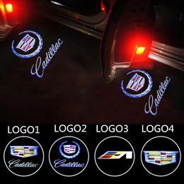 Wholesale Car Door Laser Lights - Car Door Light Warming Logo For Cadillac SRX XT5 ATS-L XTS CT6 Ghost Shadow Laser Projector Welcome Lamp