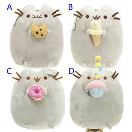 Wholesale Cookie Girl - 5 Styles 23cm Kawaii Brinquedos New Pusheen Cat Cookie Icecream Doughnut Stuffed Plush Animals christmas Toys for Girls B