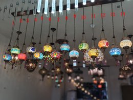 2019 lampara led cafe Lámparas difusoras de café difusas Lámparas y linternas de Turquía Lámpara de barra de país de Bohemia Lámpara de pasillo de mosaico Bohemia rebajas lampara led cafe