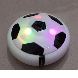 Wholesale Kids Plastic Play Balls - Creative light-up toys Bright light Suspension football Electric soccer kids boy indoor toy Good sprot ball Air Power Soccer