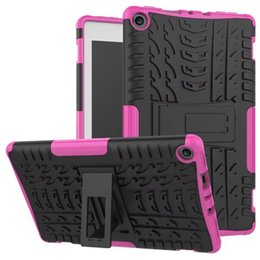 Wholesale Kindle Fire Hd Covers - Kickstand Hybrid Cases Shockproof TPU PC Defender Hard Back Cover For Samsung Tab A 2016 10.1 T580 P585 P580 Kindle Fire HD 7 8 2015 2017