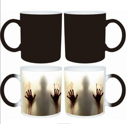 Wholesale Heat Changing - The Walking Dead Mugs Coffee Tea Milk Cup Hot Cold Heat Sensitive Color Changing Ceramic Mug
