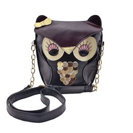 Wholesale Korean Wholesale Designer Handbags - Wholesale- Fashion Cartoon Bow Owl Soft PU Leather Handbag Bag Korean Cute Fox Designer Shoulder Bags Chain Women Cross-body Bags Gift