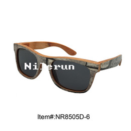 Wholesale Paint Wood Frames - fashionable gray oil painting composite wood sunglasses