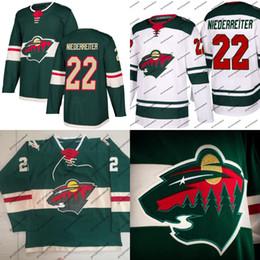 Wholesale Hockey Jerseys 22 - #22 Nino Niederreiter 2017-2018 New Season Minnesota Wild Jersey 11 Zach Parise 12 Eric Staal 16 Jason Zucker 40 Devan Dubnyk Hockey Jerseys