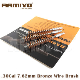 Wholesale Wholesale Gun Supplies - Armiyo .30-06Cal .30Cal 7.62mm Hunting Rifle Gun Bronze Wire Barrel Cleaning Brush Screw Thread Size M4*7mm