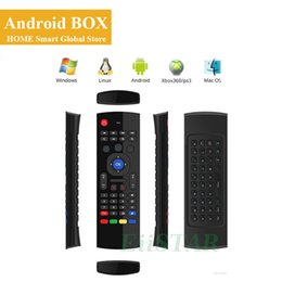 Wholesale 3d Keyboard Controller - 2.4GHz Fly Mouse MX3 3d somatosensory IR Learning Qwerty Mini Keyboard Wireless Remote Controller 6-Axis Gyroscope Gamepad for Android Box
