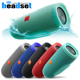 Wholesale Portable Speaker Design - portable charge Fashion designed waterproof wireless Bluetooth speakers built-in 2400mAh rechargeable battery with package for smartphones