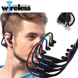 Wholesale Wholesale Sport Headbands - S9 Stereo Bluetooth earphone Sports headphone Wireless ear hook Headband In Ear Earphone Hifi Music Player For iPhone6 Plus Samsung