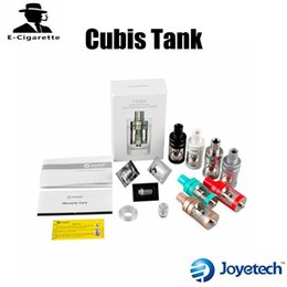Wholesale Huge Tank - Original Joyetech Cubis Tank Atomizer Sub ohm Tank Invisible Top Airflow Control Fit SS316 0.5ohm 1.0ohm Clapton 1.5ohm Huge Vaping