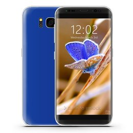 Wholesale Dual Sim Android 3g Ips - 1GB 4GB+32GB Goophone S8 1:1 3G WCDMA 5.5 inch IPS 960*540 qHD Curved Screen Quad Core MTK6580 Android 7.0 GPS WiFi Nano-Sim Card Smartphone