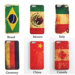 Wholesale Silicone Cases For Iphone China - Wood Phone Case for iPhone 5 5s 6 6s 6plus 7 7plus plus Painting China National Flag Mobile Color Protector Cover DHL Shipping