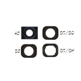 Wholesale Iphone Home Button Rubber - 100pcs Home Button Glue Adhesive Rubber Gasket Sticker Holder For Apple iPhone 4S 5 SE 5S 5C 6 6S 6 Plus 6S Plus Replacement Part