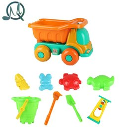 Wholesale Engineering Bag - Wholesale- MQ 9 Pieces Beach Sand Mini Engineering Vehicle Toy Set with Mesh Bag for Kids - Color Random