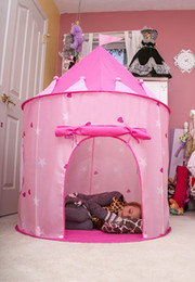 Wholesale Castle Toy For Girls - Little Princess Castle Kids Play Tent Pink Indoor Outdoor Playhouse for Girls, Boys and Children Promotes Early Learning