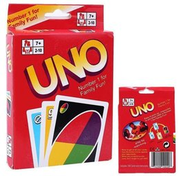 Wholesale Big Funny Cards - UNO Poker Card Standard Edition Family Fun Entermainment Board Game Kids Funny Puzzle Christmas Game free shipping in stock