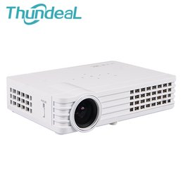Wholesale 3d Projector Shutter - Wholesale-DLP-900W 3D Shutter Android Smart 500Ansi 4500Lumens Pocket Pico Mini Projector WIFI Miracast Full HD HDMI Proyector