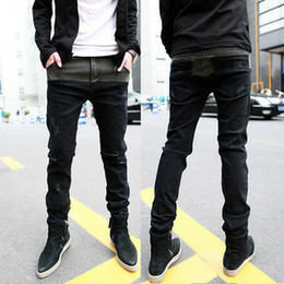Wholesale Male Fashion Casual Pants - Wholesale-2015 Autumn Winter Mens Fashion Jeans Men Pants Casual Jean Male Elastic Denim Pencil Jeans