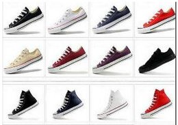 Wholesale Banded Top - DORP SHIPPING NEW size35-45 New Unisex Low-Top & High-Top Adult Women's Men's Canvas Shoes 13 colors Laced Up Casual Shoes Sneaker shoes
