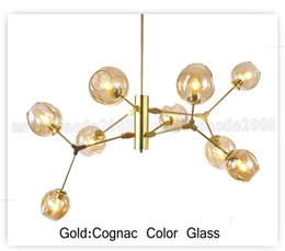 Wholesale Champagne Christmas Tree - BE122 Lindsey Adelman Chandeliers Lighting Modern Pendant Lamps Natural Tree Branch Suspension Christmas Light Hotel Dinning Room Lamp