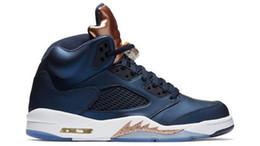 Wholesale New Fabric Roses - New 2016 air retro 5 V man basketball shoes Bronze Olympic OG Black Metallic Gold Tongue space jam Bean Mark Ballas sport sneakers