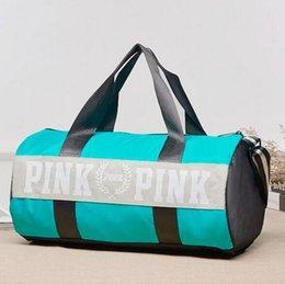 Wholesale Shoulder Pleats Designer Fashion - Luxury Brand Handbags Designer Duffle Dags Fashion Women Pink Letter Unisex Shoulder Dag Canvas Girl Pink VS Secret Traveling Bags