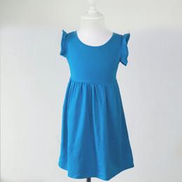 Wholesale Girls Cotton Frocks - Summer Cotton Girls dress wholesale boutique kids frock design dress baby Flutter Sleeveless Tunic dress