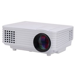Wholesale Hdmi Input Tv - Wholesale-Portable MINI LED Projector Home Theater Used 2200Lumens Brightness Cinema Proyector Support AV VGA USB TV HDMI Full Input Ports