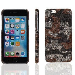 Wholesale Frosting Pattern - Camo Case For iPhone 6 6s Plus New Fashion Frosted Matte Pattern Camouflage design Cell Phone Back Cover Opp Bag