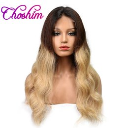 Wholesale Wig Tyra Remy Hair - Slove Rose JK Ombre Lace Front Human Hair Wigs Body Wave Color 1B 4 27 Brazilian Remy Hair Lace Wigs For Black Women With Baby Hair Body