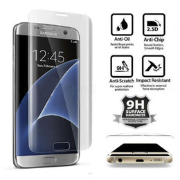 Wholesale Curve Body - Transparent 0.3mm 3D Curved Full Screen Coverage Tempered Glass Protector for Samsung Galaxy S6 Edge Plus S7 Edge G9350 S8 Plus