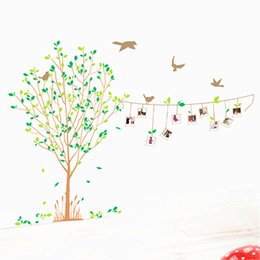 Wholesale Chinese Tv Package - DIY Life Photos Stickers Family Tree Birds Photo Wall stickers TV Room Bed Room Home Wall Sticker Decoration Factory Wholesale