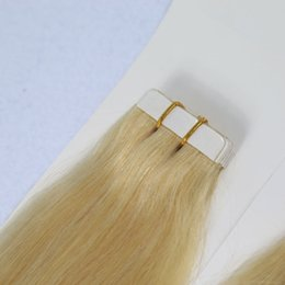 Wholesale 26 Inch Tape Hair Extensions - YSG Top quality 2g pc,20pcs bag Glue Skin Weft PU Tape in Human Hair Extensions 18 20 22 24 26 28 30 inch Virgin Indian hair extension