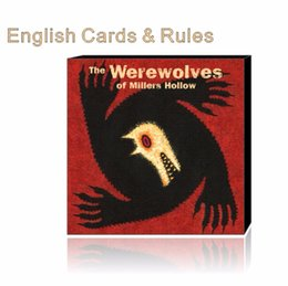 Wholesale Big Plastic Paper - Werewolves with english rules Millers Hollow family game board game card game