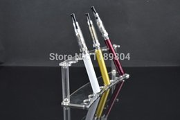 Wholesale E Cig Acrylic Display - Wholesale- DHL 10pcs  lot cheap acrylic display stand stands e cigarette shelf stands suitable for 16mm diameter e cig total 8 holder
