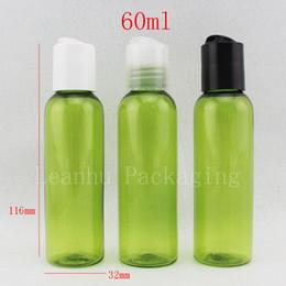 косметические бутылки зеленый Скидка Оптовая 60 мл х 50 светло-зеленые пластиковые бутылки путешествия, 60 г пустые косметические контейнеры, 2 унции макияж ПЭТ пластиковые бутылки для лосьона