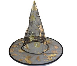 Wholesale Halloween Decorations Sales - Halloween Costumes Hat Halloween Party Props All Saints'Day Cool Witches Wizard Party Hats Various Color Hot Sale DHL Free Shipping