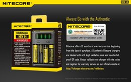 Wholesale Intellicharge I4 - New Nitecore i4 Intellicharge Universal Battery Charger for RCR123A 26650 18650 AA AAA WIth Retail box