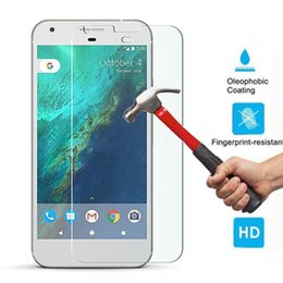 Wholesale Body Google - Wholesale-New 9H Hardness 0.26mm Genuine Premium Ultra Clear Tempered Glass Screen Protector Guard Film For Google Pixel   Pixel XL