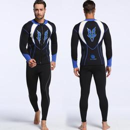 chaquetas de buceo Rebajas 2017 chaqueta de neopreno de buceo profesional de 3 mm para hombre de manga larga, pantalones de buceo de snorkel de 2 mm de manga larga