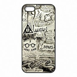 Wholesale Harry Potter Iphone 4s - Harry Potter Marauder's Map Phone Covers Shells Hard Plastic Cases for iPhone 4 4S 5 5S SE 5C 6 6S 7 Plus ipod touch 4 5 6