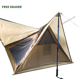 Wholesale Tent Aluminum - 2017 Free Soldier Outdoor Sports Tactical Tarp Camping Hiking Tent for Walkers Portable Outdoor Tarp Picnic Tent High Quality