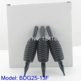 Wholesale Tattoo Magnum Tubes - Wholesale-20pcs 25mm Black Flat Magnum FT13 Disposable Tattoo Grip Tube Supply BDG25-13F#