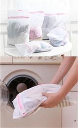 Wholesale Laundry Net Fabric - DHL Fedex 3 Size Washing Machine Specialized Underwear Washing Bag Mesh Bag Bra Washing Laundry underpants Care wash Net Laundry Bag B1051
