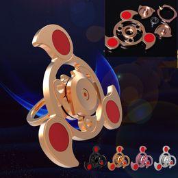 Wholesale Wholesale Fingertip Rings - Air Fidget Spinner with Finger Ring Aluminum Alloy Tri-Spinner Fidget For Kids Adult Relief Stress Toys The Air Rotating Fingertips Gyro