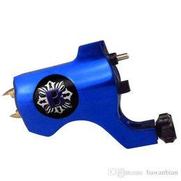 Wholesale Swiss Tattoo Gun - Free Shipping Newest Bishop Style Precision Rotary Tattoo Machine Gun Blue Machine Aluminum Swiss Motor Shader Liner