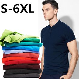 Wholesale Wholesale Designer Clothes Brands - Plus size S~6XL Men's Brand Polo Shirt For Men Designer Polos Men Short High quality embroidery Sleeve shirt jerseys golftennis clothing